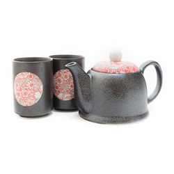 10540 teapot teacups black pink pattern main