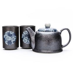 10586 teacup teapot teaware blue crysanthemum