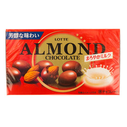 10683 lotte mild milk almond chocolates