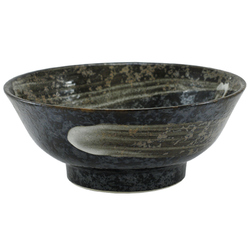 11366 noodle bowl black brushstroke