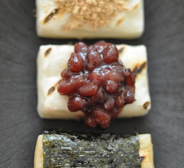 Sanshoku Mochi (Three-Colour Rice Cakes)