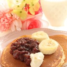 Photo banana azuki pancakes