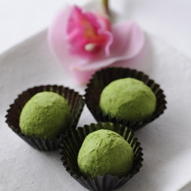 Photo valentine s matcha truffles