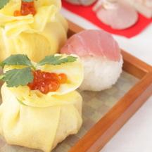 Chirashi sushi chakin