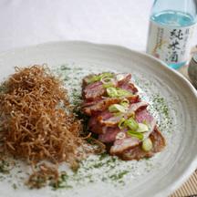 Sake lamb aubergine puree c