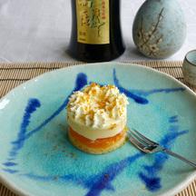 Sake mandarin trifle