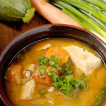 Photo korean style spicy miso soup