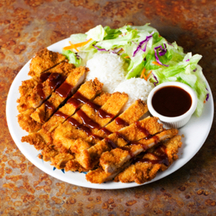 Photo tonkatsu deep fried breaded pork cutlet