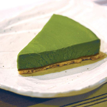 Photo matcha green tea cheesecake