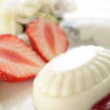 Photo soy milk panna cotta